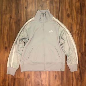 Classic Puma Track Jacket Silver/Grey